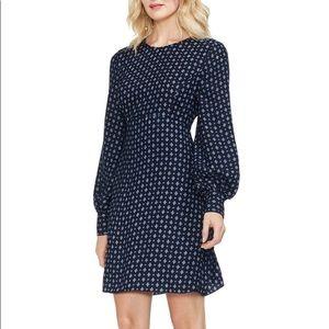 Vince Camuto geometric print bubble sleeve dress